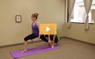 Yoga Poses Warrior One